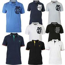 Men's Polo Shirt Short Sleeve Cotton Plain Pique Top Regular Fit T-Shirt S-XXL