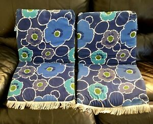 Pair 70s Vintage Outdoor Chair Pads for Folding Lawn/Camp Chairs Flower Power