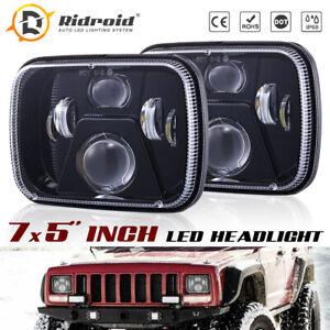 105W 7X6 5X7 inch Hi-Lo Beam LED Headlight Sealed For Jeep Cherokee YJ XJ 97-01