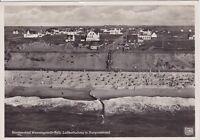 uralte AK, Nordseebad Wenningstedt-Sylt, Luftaufnahme mit Burgenstrand, 1934