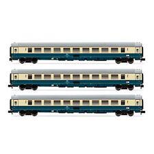 Vagones de mercancías de escala N azules Arnold para modelismo ferroviario