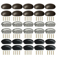 10x 25x Cupboard Cabinet Knob Handle Furniture Door Drawer Shell Cup Pull Knobs