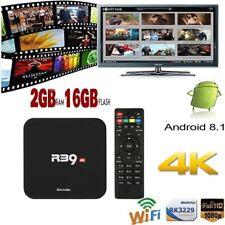 R39 2GB/16GB Android 8.1 TV BOX UHD Quad Core RK3229 2.4G WiFi 4K 3D Media DLNA