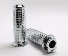 "Triumph Thruxton Oval Moto Chrome Aluminum 7/8"" Grips by Speed Dealer Customs"