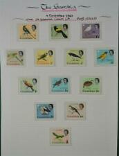 GAMBIA BIRD SET  STAMPS  SELECTION ON  ALBUM PAGE  (N84)