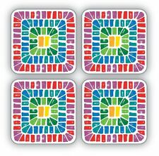 Cooksmart Seville Coasters Pack of 4 Drink Mats Vintage Retro Style New