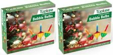 Tupkee Christmas Replacement Bubble Lights – 3 Multi-Color Light Bulbs - 2 Pack