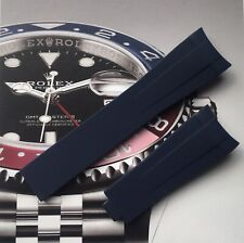 High Quality Aftermarket Rubber Strap Blue For Rolex Submarine, GMT,Daytona 20mm