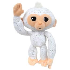 Fingerlings Cute Monkey White Glitter Plush Stuffed Toy Gift Boys Girls Kids