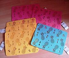 7 Stück Platzdeckchen, Deckchen,30x40 cm,gelb,rosa,türkis,gestanzte, Neu