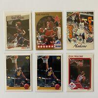 NBA Basketball Card Set - 6x Karl Malone Cards - NBA Hoops & Upper Deck