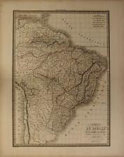 BRASILE BRASIL BRAZIL AMERICA MERIDIONALE SOUTH AMERICA Carta Geografica 1854