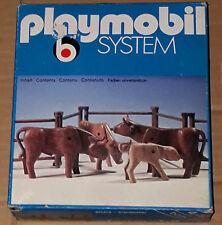 Vintage 70's Playmobil Klicky System 3275 Western Cows Cattle Herde Cheptel MISB