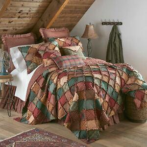 Donna Sharp CAMPFIRE Bedding Set Queen Quilt & 2 Standard Shams NIP