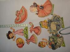 Vintage Merrill POLLY & HER PLAYMATES #1556 1951 4 Paper Dolls & Costumes - CUT
