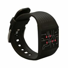 Getdigital Binary Wrist Watch Professionals Led Lights Black Digital