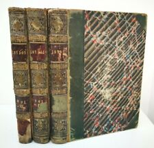 Vtg 1841 3 Volume Charles Knight London Illustrated History 1st Edition Leather