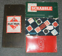 Vintage Board Games:1936-39 Monopoly, Scrabble, Draughts, Ludo, Parcheesi, Etc.