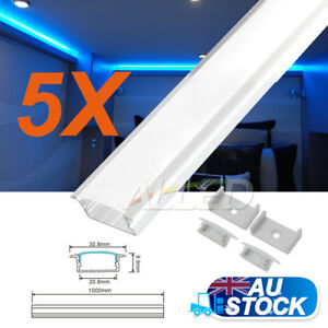 5X1M Alloy Channel Aluminium Bar Extrusion for RV LED Strip Lights Kitchen Cabin