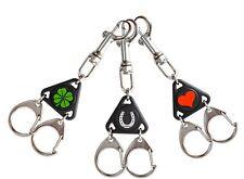Drei Schlüsselanhänger KLEEBLATT, HUFEISEN Liebe HERZ Set mit Schlüsselringen