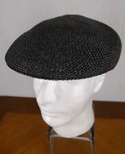 VTG Pendleton Black Hat XL Straw Cabbie Newsboy Woven USA Model A176-701 Hipster