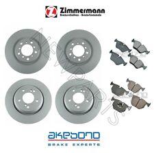 BMW E46 M3 2001-2006 Front & Rear Zimmermann Brake Rotors and Akebono Pads KIT