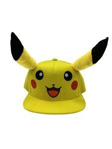 Pokemon Pikachu Snapback Baseball Cap Adjustable New - FAST DISPATCH !!
