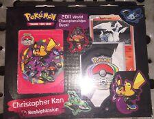 Pokemon 2011 World Championship Deck Christopher Kan SELAED Reshisplosion
