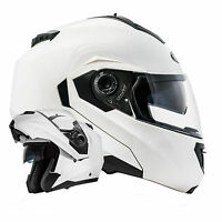 Montreal Klapphelm Doppelvisier Weiß Gr. M ECE 2205 Motorradhelm Helm mit Visier