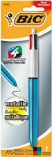 BIC Multi All in One 4 Colour 1.0mm Shine Retractable Pen - 1x Blue barrel 1.0mm