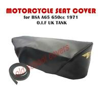 BSA A65 650 O.I.F UK TANK 1971 SEAT COVER WITH SEAT TRIM & CLIPS