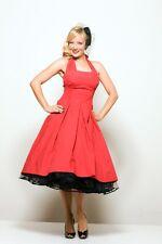 Unique Vintage beautiful red swing dress L tea length retro 50's 60's new look