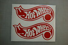 2X hot wheels hotwheels logo Bumber sticker decal cars trucks boats wall Toys