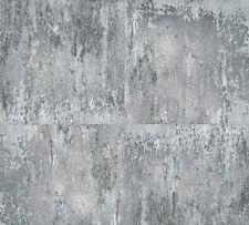 Vliestapete Metall Stein Beton Optik grau silber patina 36118-3 Neue Bude 2.0