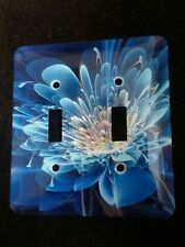 Double light switch plate cover