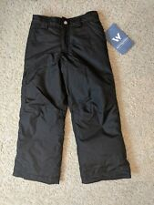 White Sierra Boy's Bilko Insulated Snow Pant, Black, Youth X-Small