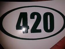 AWESOME Marijuana Weed DARK GREEN 420 10 Sticker LOT Cannabis Medical Legalize