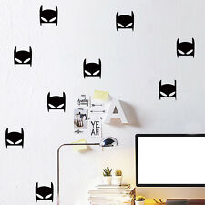 Large Black Batman Mask Super Hero 6 Pcs Wall Decals Stickers Kids Décor Gift