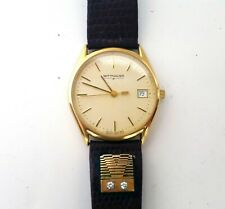 Men's Wittnauer SS2544 Swiss 9514 Date Gold Tone on Alligator Diamond Band Watch