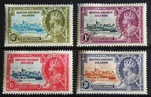 Solomon Islands – 1935 Silver Jubilee Set – Mint (VLM) (Se1-E)