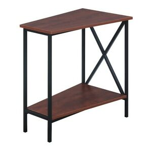 Convenience Concepts Tucson Wedge End Table, Black/Cherry - 161860CH