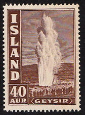 Iceland  unmounted mint / never hinged 1938 Geysir 40 AUR