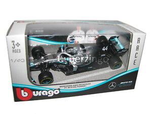 Mercedes F1 W10 EQ Power AMG Petronas Hamilton Bburago 1:43 Model Car PREOWNED