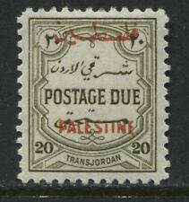 Jordan overprinted Palestine 1948 Postage Due 20 mils perf 12 mint o.g.
