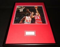 Bobby Jones Signed Framed 12x18 Photo Display Philadelphia 76ers
