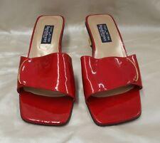 stuart weitzman slip on sandals size 10 red
