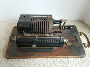 ANTIQUE WALTHER PINWHEEL CALCULATING MACHINE CALCULATOR