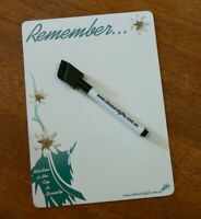 A5 Serenity Flowers Aqua Fridge Magnet Whiteboard Memo Home Office Notes +2pens