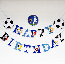 Soccer Football Party Happy Birthday Banner Bunting Boys Party Decorations