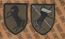 "11th Armored Cavalry Regiment Acr Blackhorse Od Green & Black 3.50"" patch m/e"
